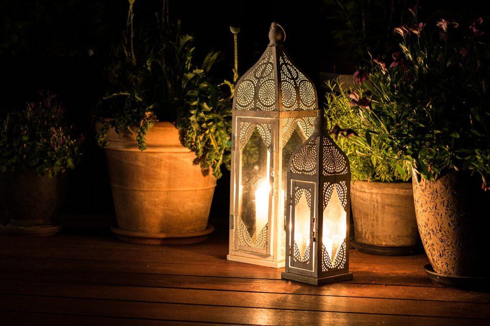 illuminazione del terrazzo